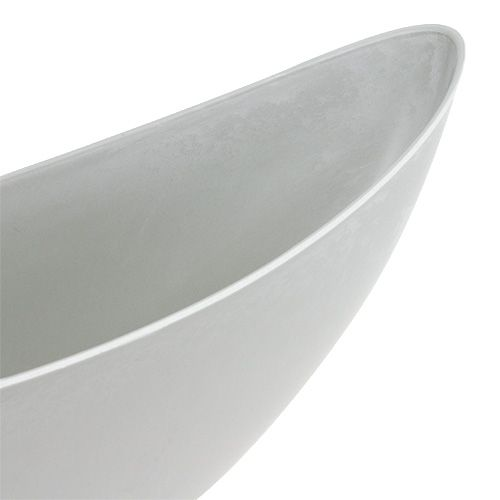 Jardinera 39cm x 12,5cm H13cm gris claro, 1 pieza