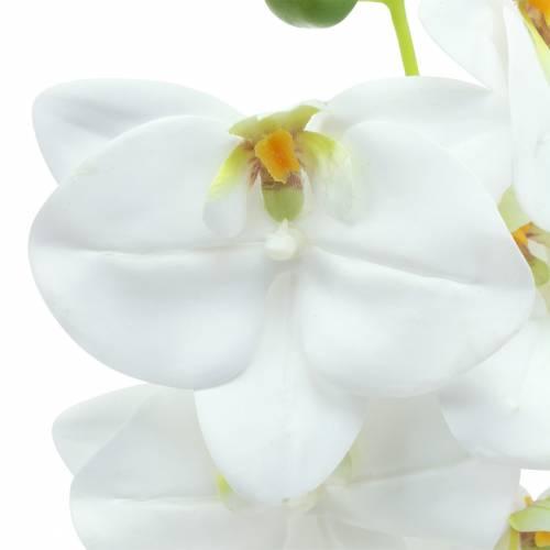Rama de orquídea artificial Phaelaenopsis blanco H49cm