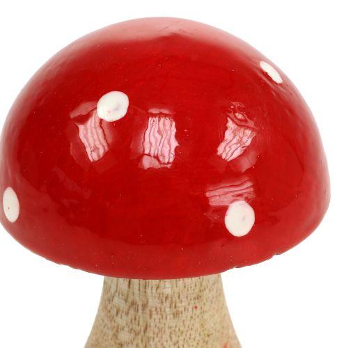 Toadstool de madera roja 11,5cm.