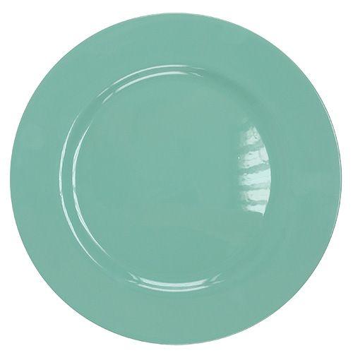 Plato plastico Ø33cm turquesa