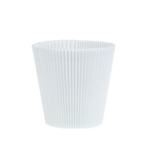 Puños plisados blanco 10.5cm 100pcs