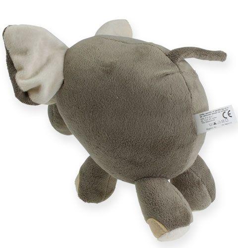 Peluche elefante 20cm Gris