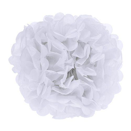 Pompón de papel Blanco Ø30cm 5piezas