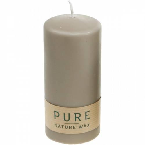 Vela de pilar puro marrón 130/60 vela de cera natural estearina sostenible y colza