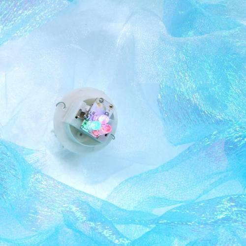 Medusas decorativas para colgar en azul brillante con luz LED Ø26 H65cm