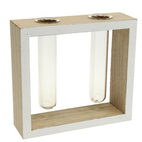 Tubos de ensayo en marco de madera 13cm x 12cm 2pcs