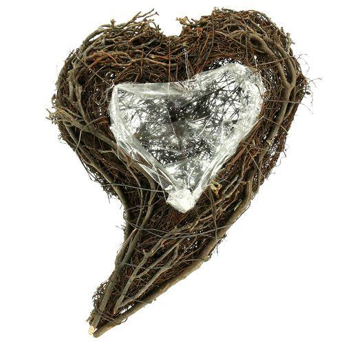 Planta de vid corazón naturaleza 15cm x23cm x5cm 4pcs