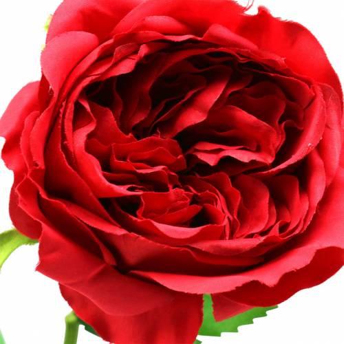 Rosa flor artificial roja 72cm