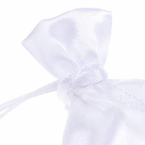 Bolsas de satén blanco 6.5 × 10cm 10pcs