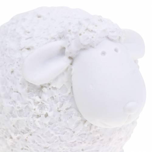 Decoración de Pascua oveja blanca H7cm 4pcs