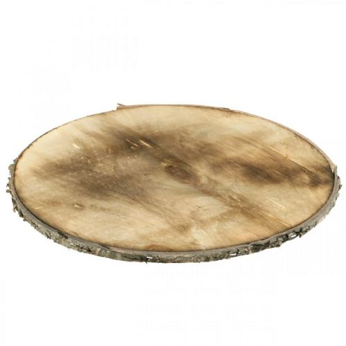 Disco de madera decorativo posavasos flameado contrachapado rústico Ø25cm