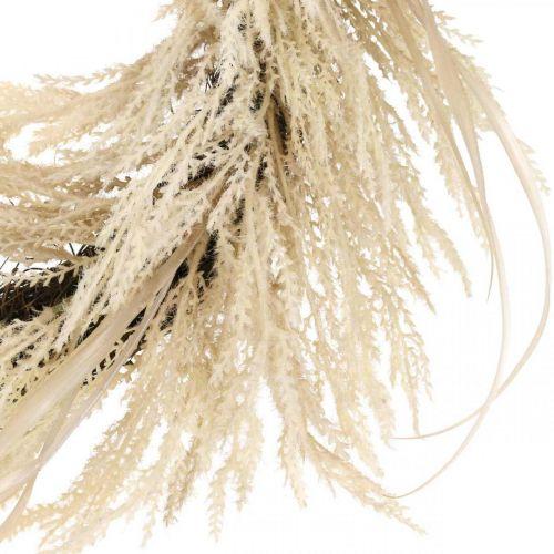 Guirnalda decorativa hierba de pampa y juncos crema artificial 70cm