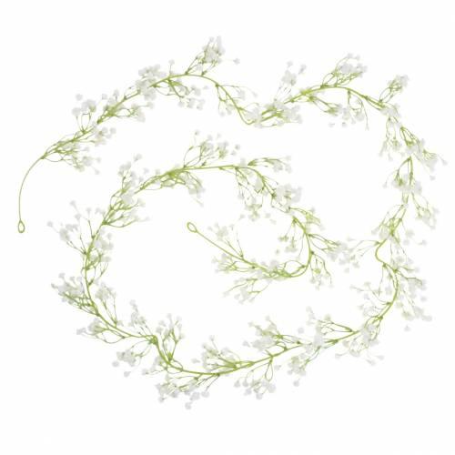 Decoración de la boda guirnalda gypsophila con ojales blanco 180cm