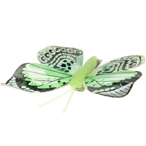 Mariposa decorativa en el clip clasificada 5cm - 8cm 10pcs