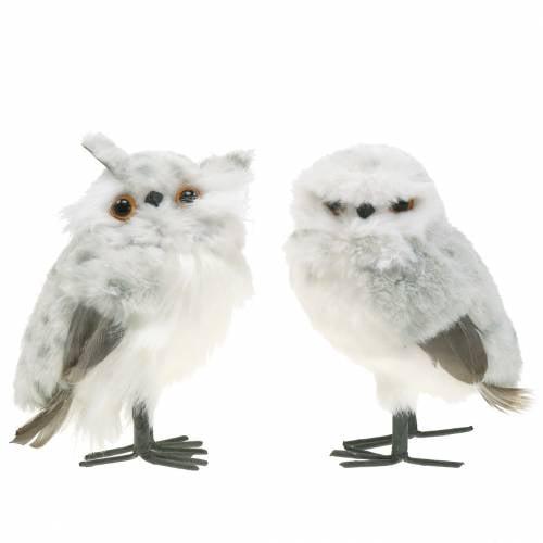 Búhos Blancos 15cm 2pcs