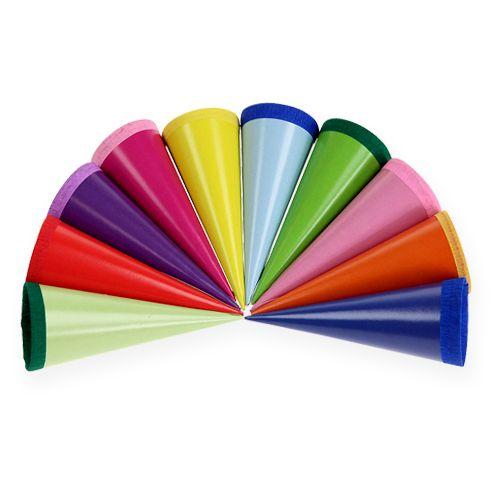 Mini bolsas de azúcar multicolores 12cm 10pcs