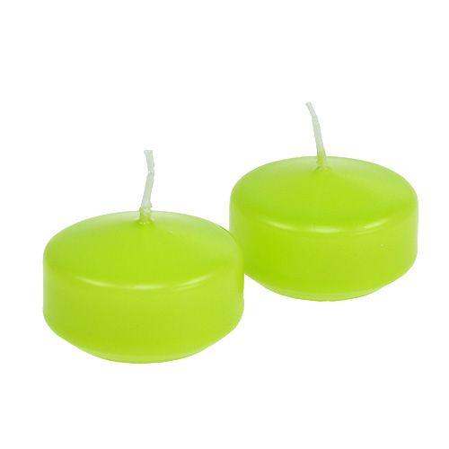 Velas flotantes verdes 4,5cm 8pcs