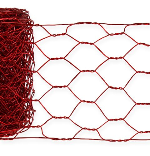 Trenza hexagonal 50mm 5m rojo