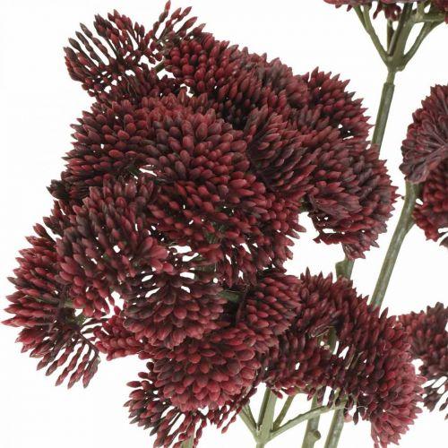 Sedum rojo artificial stonecrop otoño decoración 70cm 3pcs