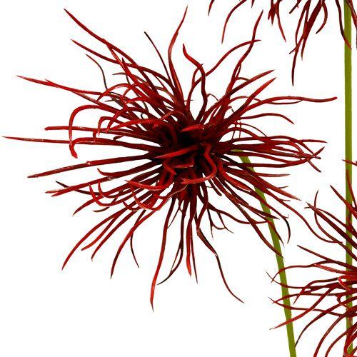 Flores de seda Xanthium Burdeos 64cm 4pcs