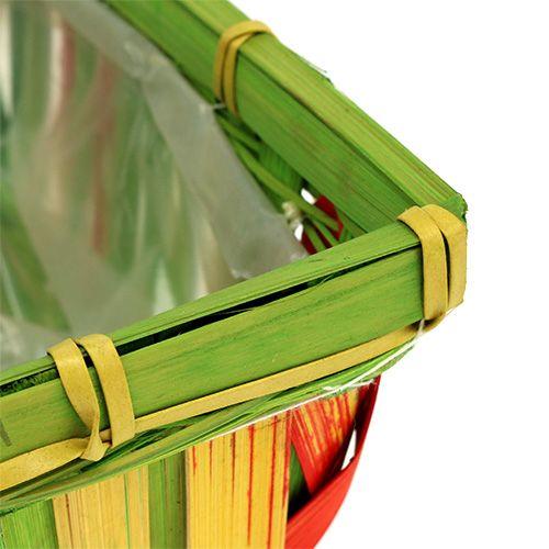Spank basket set angular multicolor 12pcs 20cm x 11cm