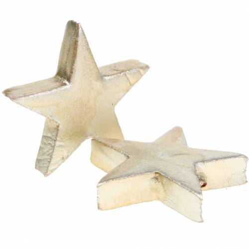 Deco star champagne 4cm 12pcs