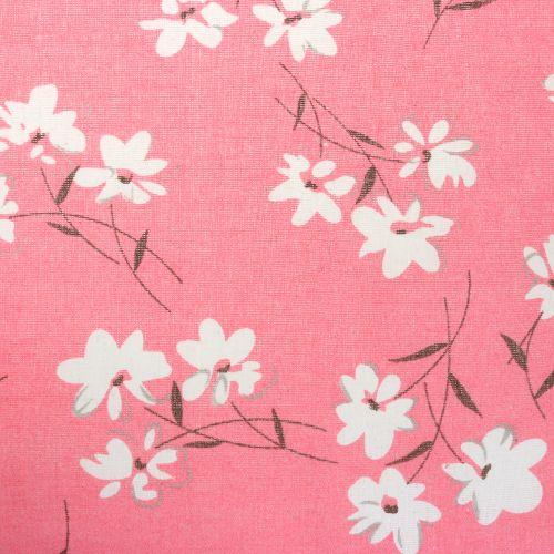 Tela decorativa flores rosa 30cm x 3m