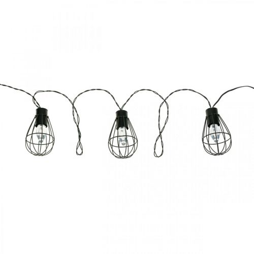 Luces de hadas solares LED decoración de jardín negro 350cm 8LED