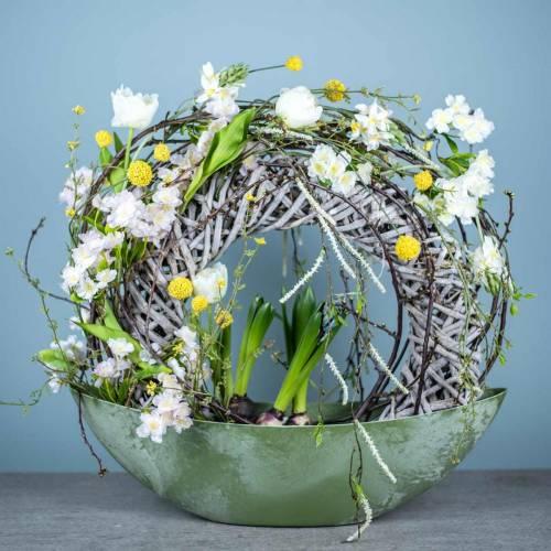 Ramo artificial con jacintos y tulipanes 34cm
