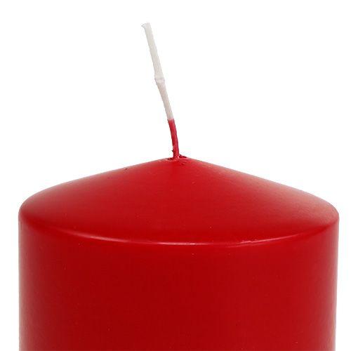 Vela Pilar 100/100 rojo 4 piezas