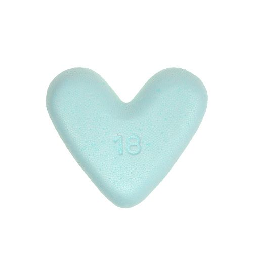 Corazón de espuma de poliestireno 18cm 2pcs