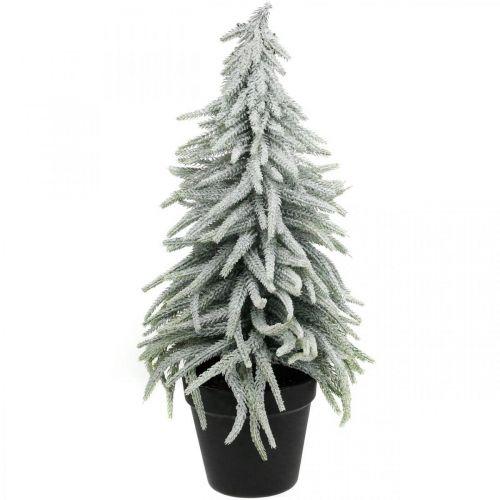 Abeto de invierno en maceta, decoración navideña, abeto con nieve Al 45cm