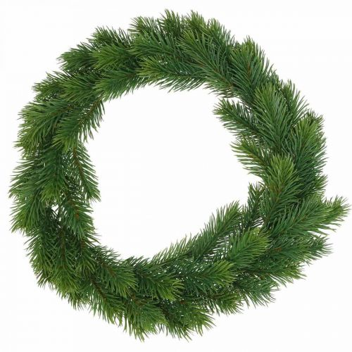 Corona de abeto decorativa corona de invierno artificial verde Ø35cm
