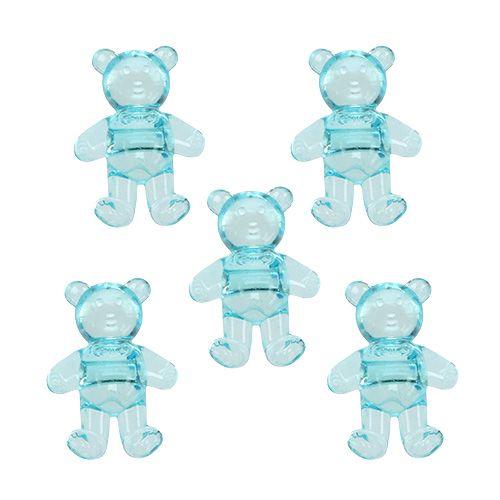 Decoración de mesa para el oso de nacimiento azul 3.5cm 60p