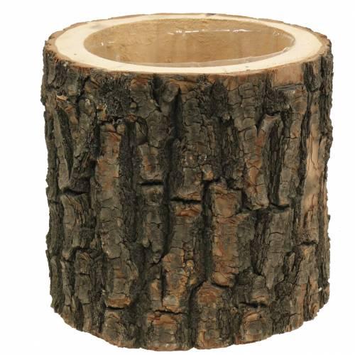 Maceta olmo madera Ø16-18cm H15cm