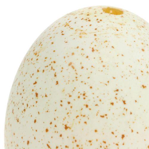 Huevos de pavo natural 6.5cm 12p