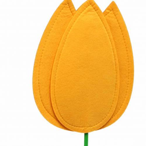 Flor de fieltro tulipán amarillo H68cm