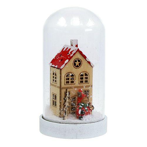 Decoración navideña casa con campana Ø9cm H16,5cm