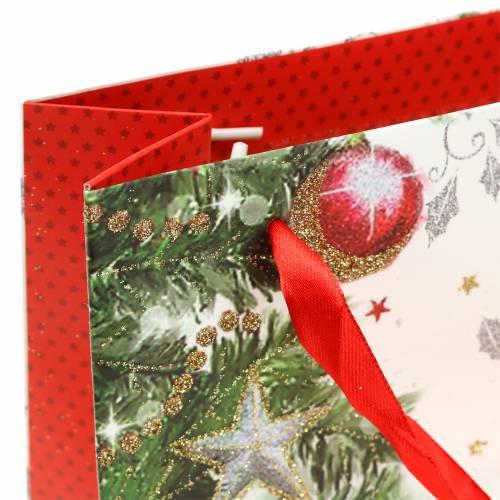 Bolsa de regalo Navidad 8cm x 18cm H24cm juego de 2