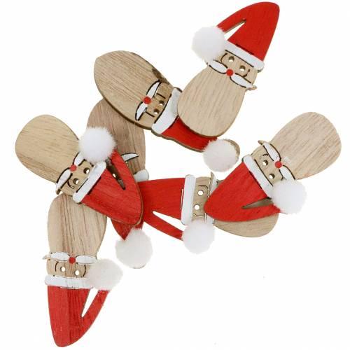 Decoración para controlar Santa Claus madera 4,5cm 36pcs