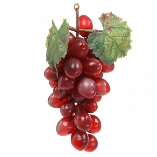 Uvas decorativas rojas Uvas artificiales frutas decorativas 15cm