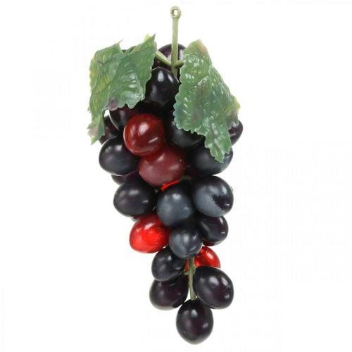 Uva decorativa negra Fruta decorativa Uvas artificiales 15cm