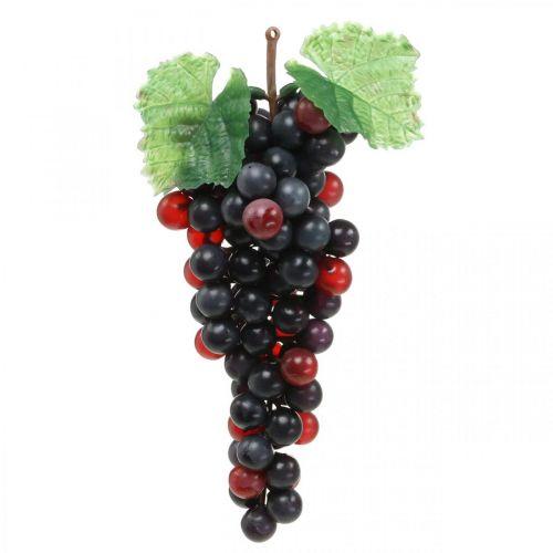 Decoración de escaparate de frutería artificial negra uva deco 22cm