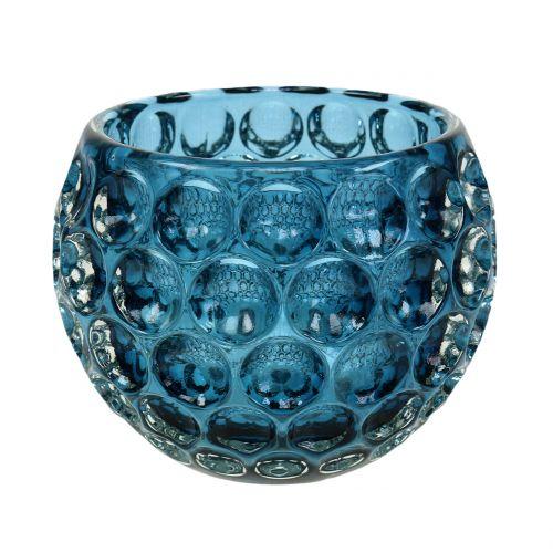 Farol de vidrio azul oscuro Ø11,5cm H9cm 1pc