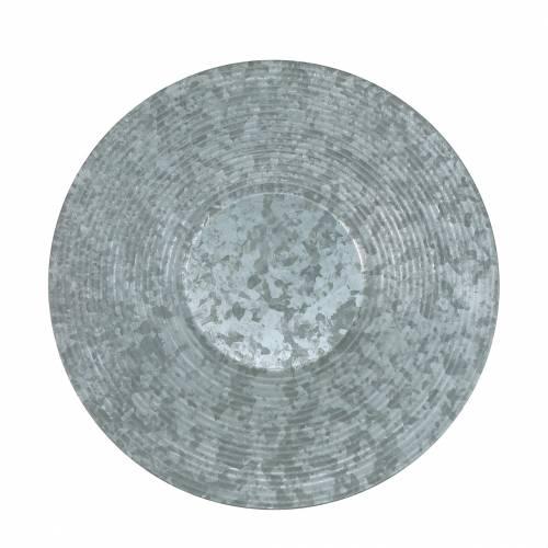 Placa decorativa placa de zinc Ø35cm