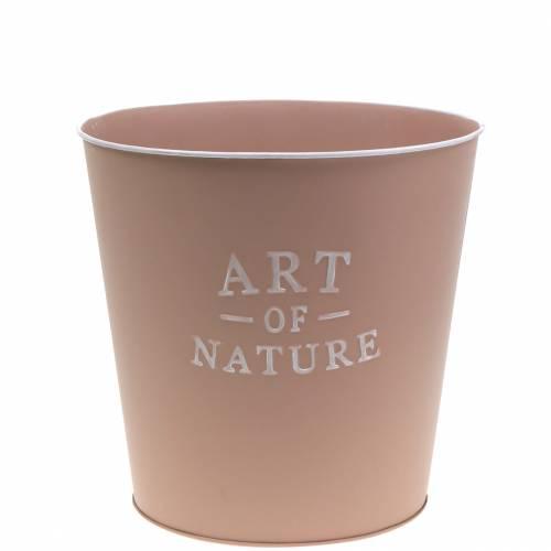 Maceta de zinc Art of Nature rosa oscuro Ø17.5cm H15cm