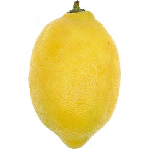 Fruta artificial, limón, frutas decorativas L8.5cm Ø5cm 4ud
