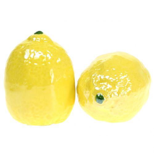 Cerámica de limón 7cm 3pcs