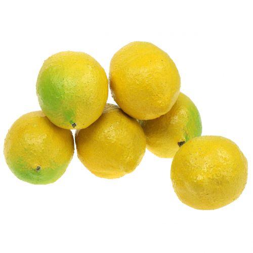 Deco limones 10cm 6pcs
