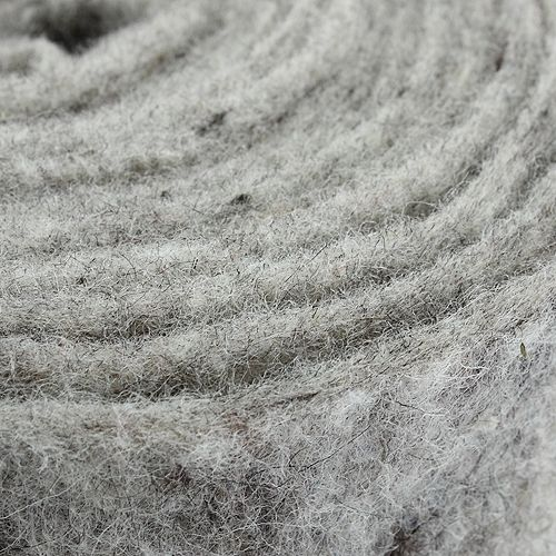 Cinta de fieltro gris 15cm 5m